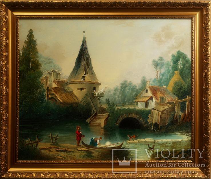 Картина маслом на холсте ′В окрестностях Бове′ 2007 г.