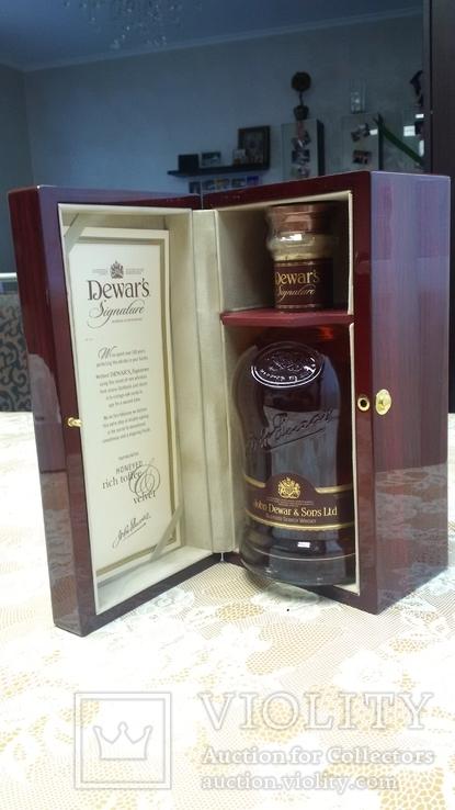 Бутылка виски Dewar's Signature 21 Years Old 0,75L (Дюарс Сигнатур 21 год 0,75л)
