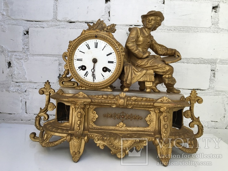 Каминные часы под реставрацию