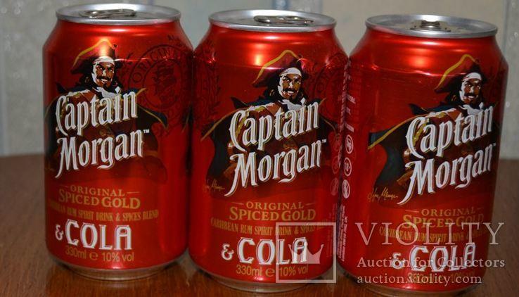 Коктейль Captain Morgan Cola (3 Баночки по 0,33 л) 28,5% Ром 10 Vol.