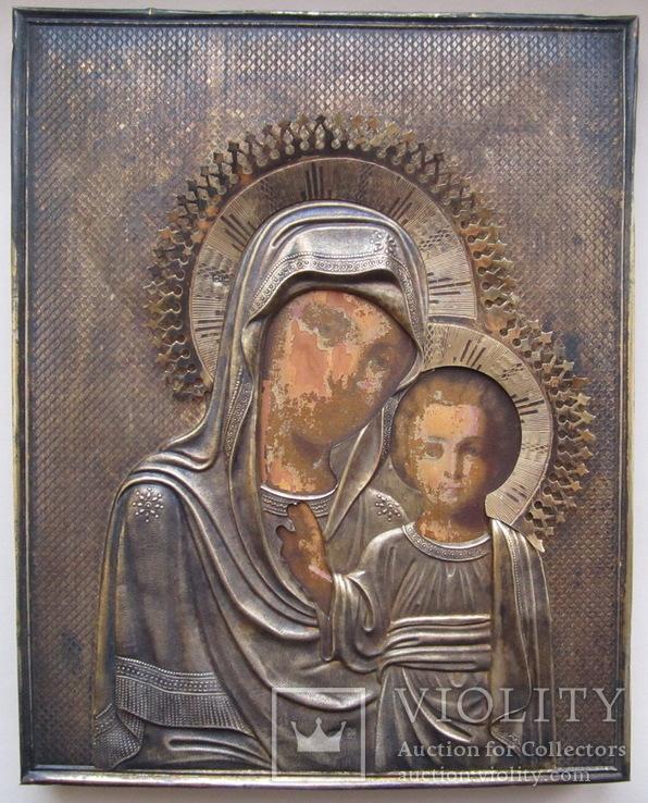 Икона Казанской Божией Матери. Серебро 84 пр.