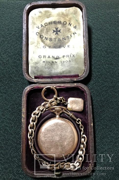 Часы карманные золотые Vacheron & Constantin Geneve с родной коробкой и шатленом