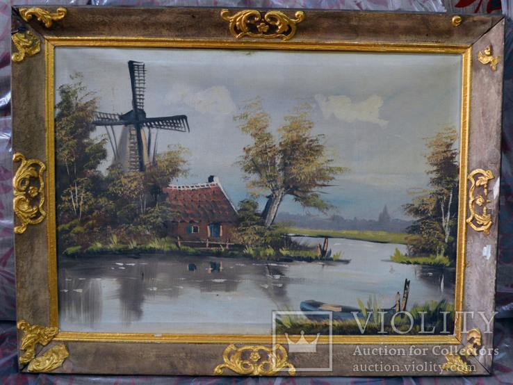 Картина Река. Холст, масло. 69х49 см