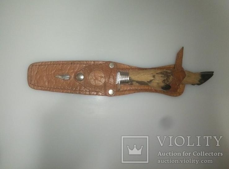 Нож с ручкой копыто, фото №5