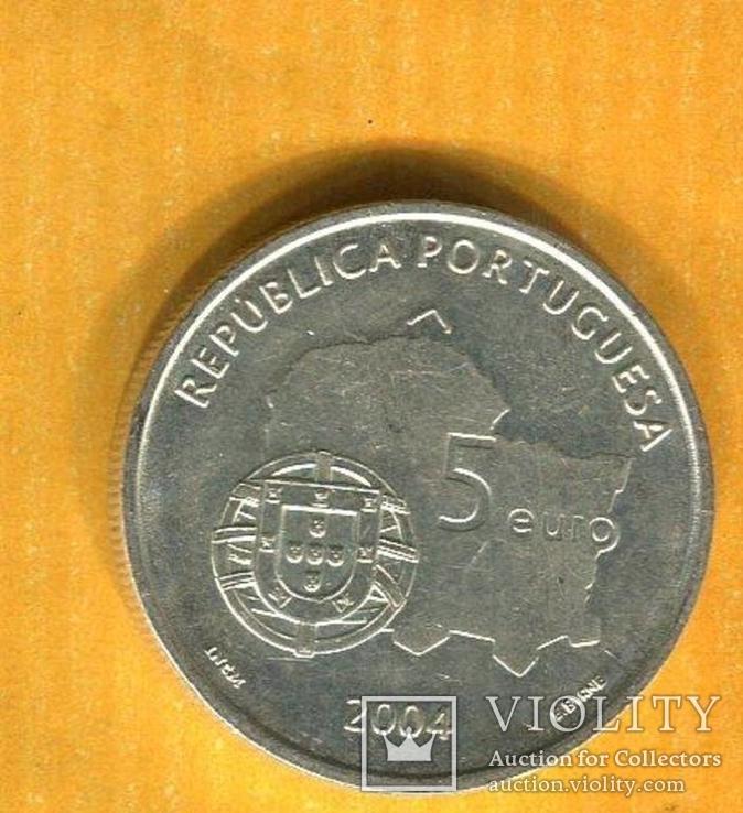 Португалия 5 ЕВРО 2004 серебро №2, фото №3