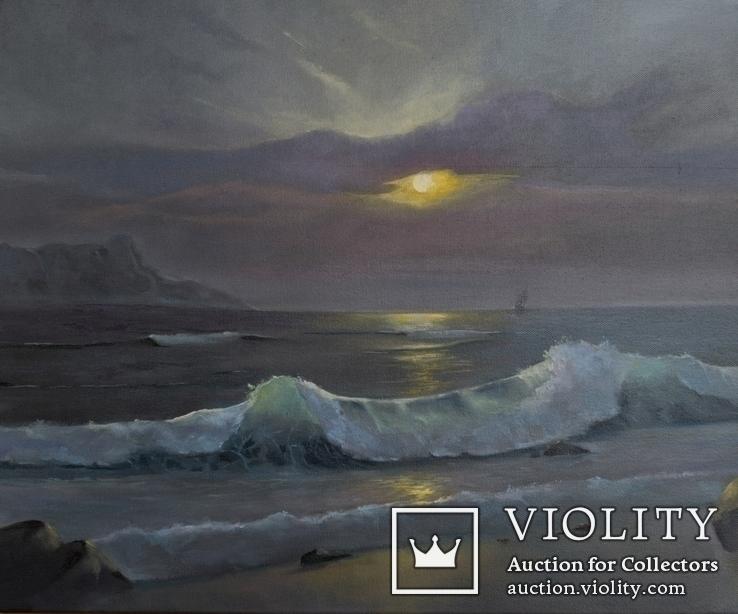 Морской пейзаж (холст, масло) 60х50 см. Автор: Жанна Захарченко