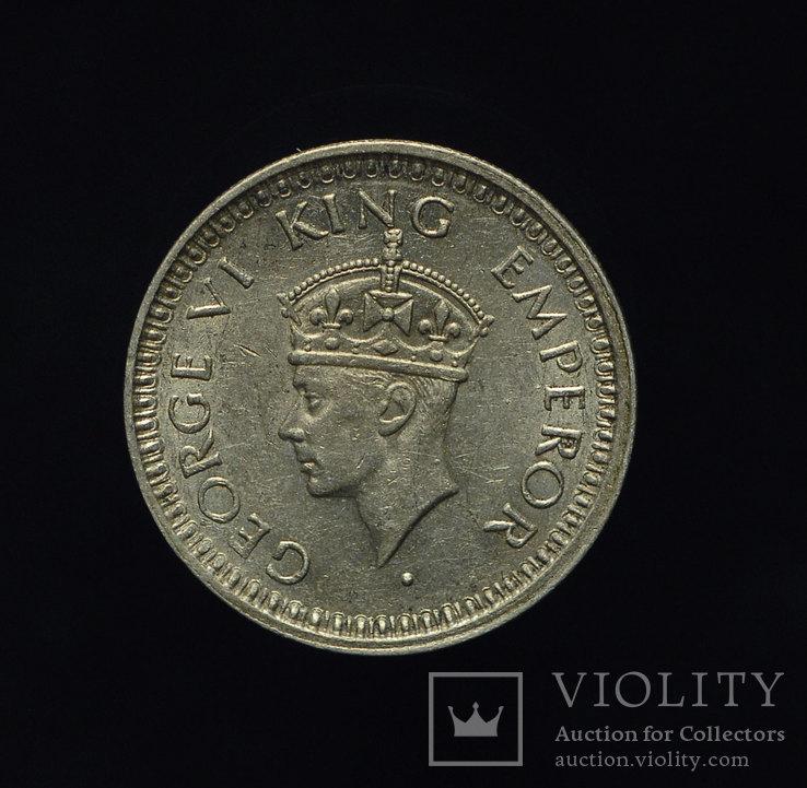 Британская Индия 1-4 рупии 1945 aUnc  серебро