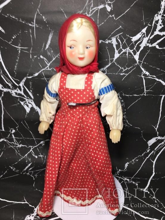 Кукла паричковая, старенькая, СССР, художественная игрушка