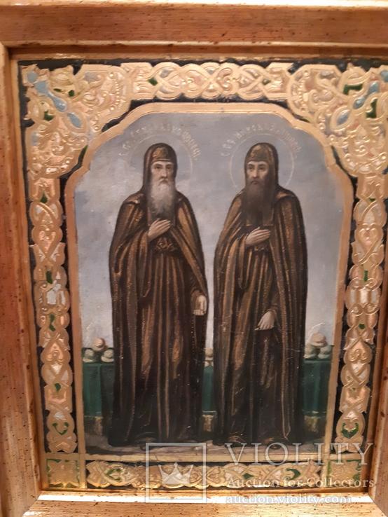 Икона Святой преподобный Спиридон .Святой преподобный Никодим
