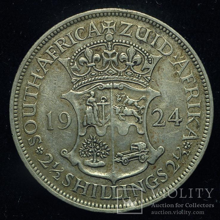 Британская Южная Африка 1-2 кроны 1924 серебро