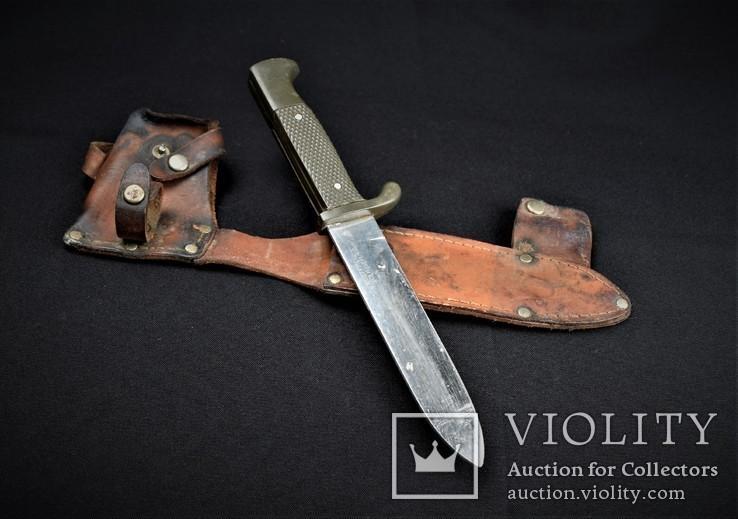 Нож Скаутский в кожаном чехле Solingen Германия