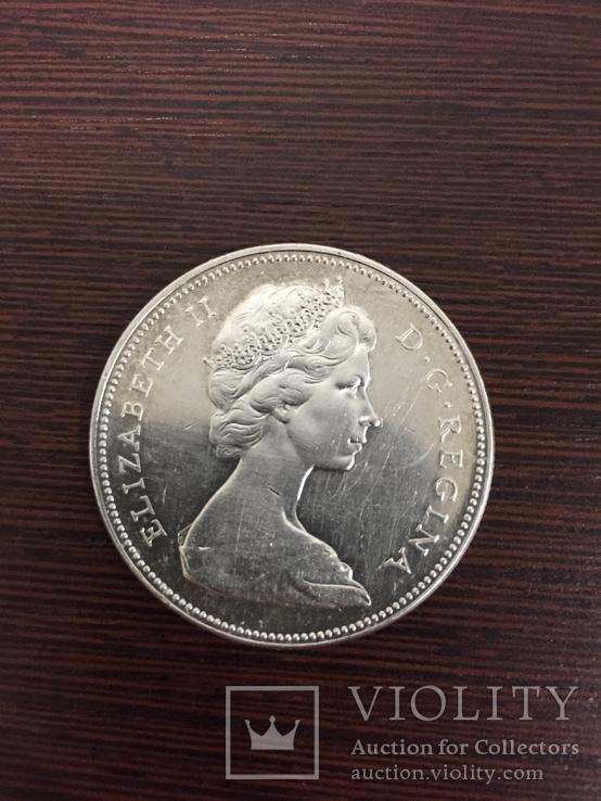 Серебреный Dollar Canada 1966 год.