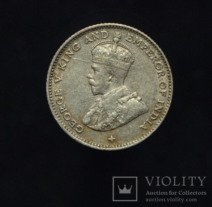 Стрейтс Сеттлементс 10 центов 1918 aUnc серебро