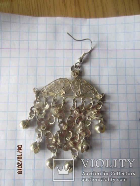 Набор винтажный (браслет серьги) филигрань, ручная работа, фото №10