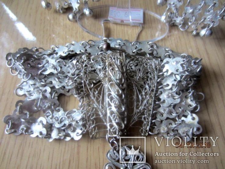 Набор винтажный (браслет серьги) филигрань, ручная работа, фото №12