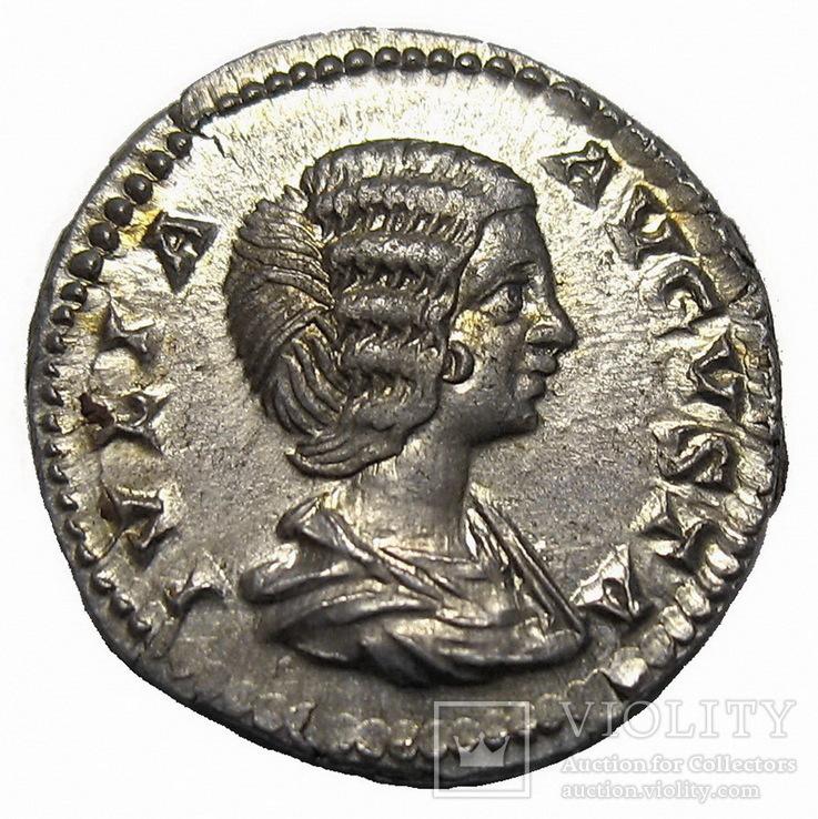 Денарий Юлия Домна 193-217 г. н.э.