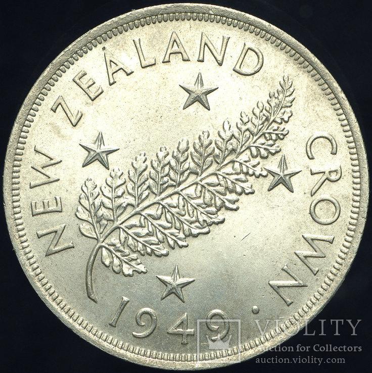 Новая Зеландия крона 1949 Unc серебро