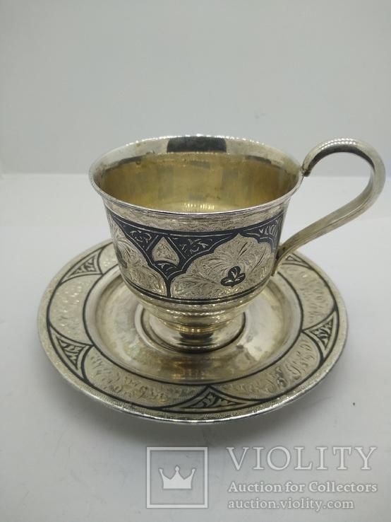 Пара чашка и блюдце '' Кубачи''