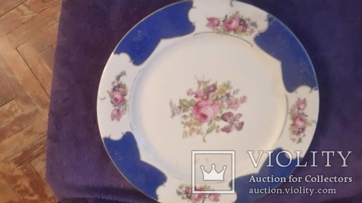 Старая фарфоровая тарелка Германия, фото №2