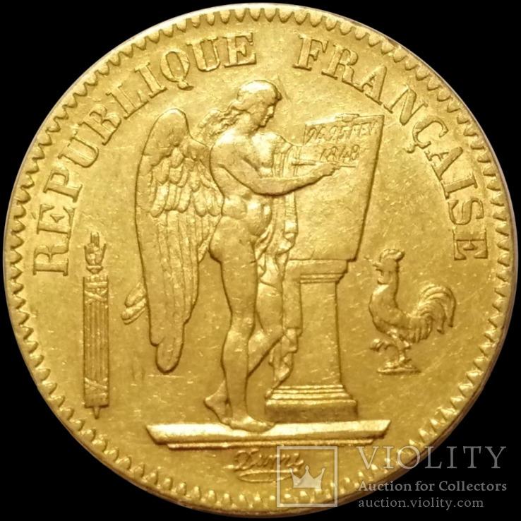 20 франків 1848 року, ІІ Французька республіка, золото