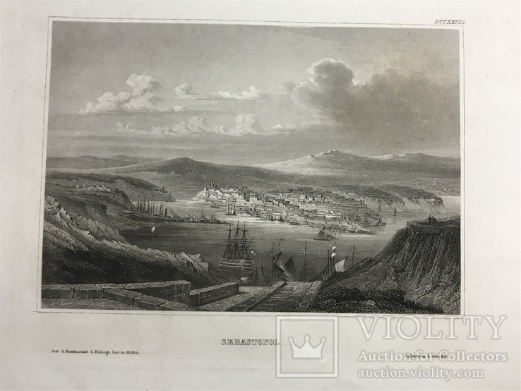 Гравюра «Севастополь» 1838 год