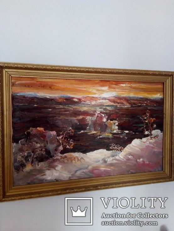 Старый пейзаж Ссср. Холст, масло. 90/60.  Воронов Анатолий Акимович 1937гг.