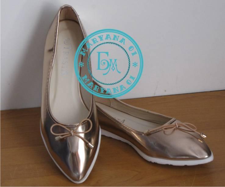 Женские балетки Бронза размер 37, фото №6