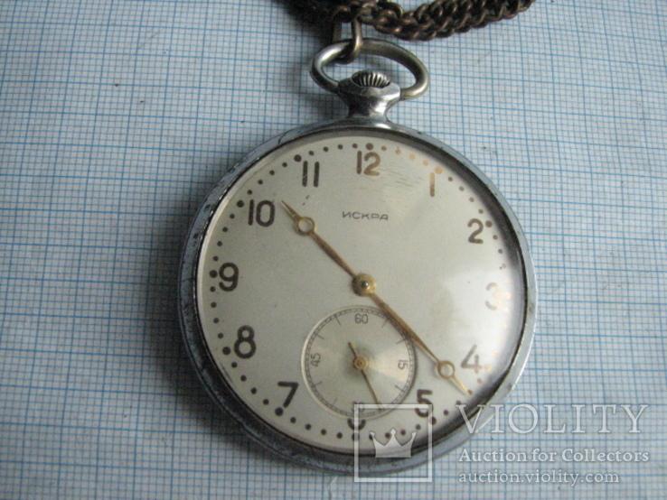Часы  карманные  Искра (наградные)  1958 год