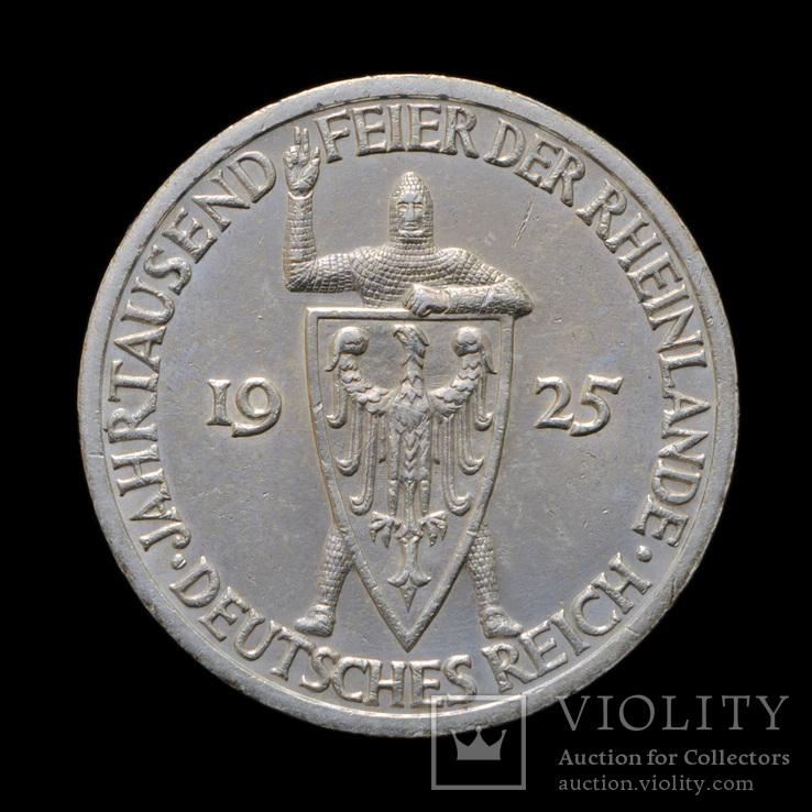 3 Марки 1925 А Тысячелетие Рейнской области (Рейнланда), Германия