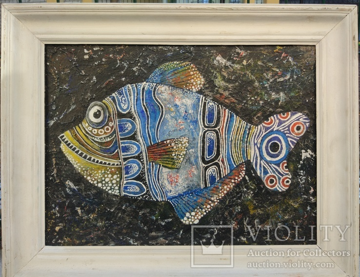 """Одесса, К.Ралле""""Рыба"""",к.м.,30*40см, фото №5"""