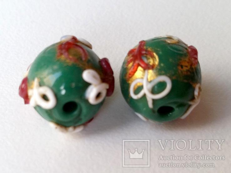 Антикварні Вeнеційські (муранські) намистини 2 штуки орієнтовно 1910х років