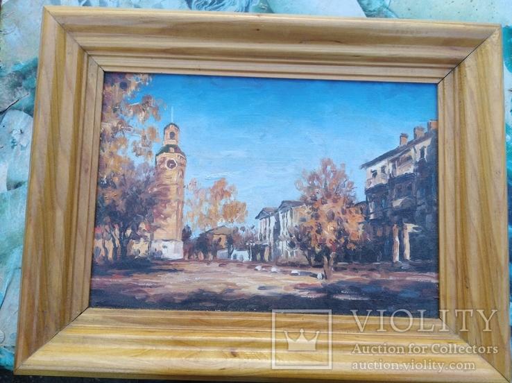 Картина Осень на Козицкого.холст.дсп.масло
