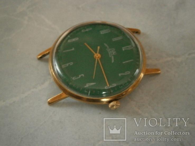 Часы Луч  в позолоте.