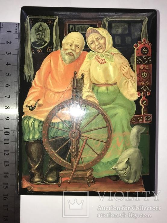 Шкатулка Федоскино 1996год