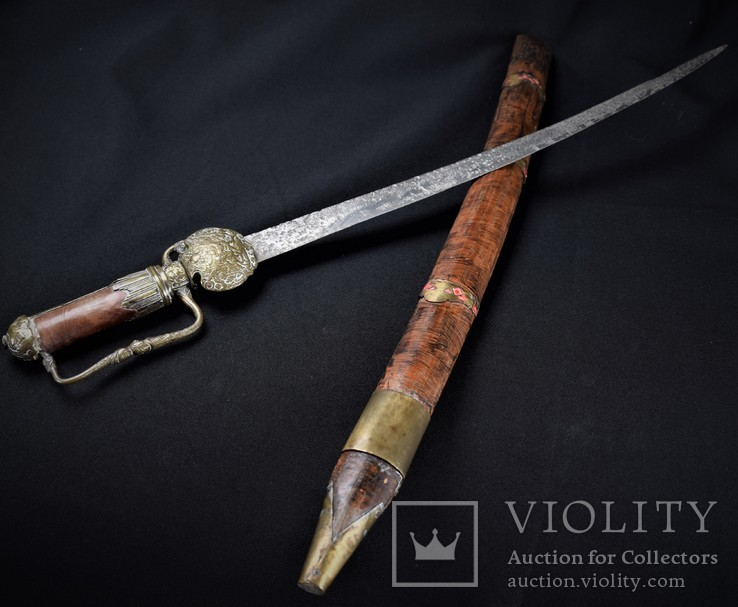Французский охотничий кинжал хиршфангер середина XVIII - начало XIX ст.