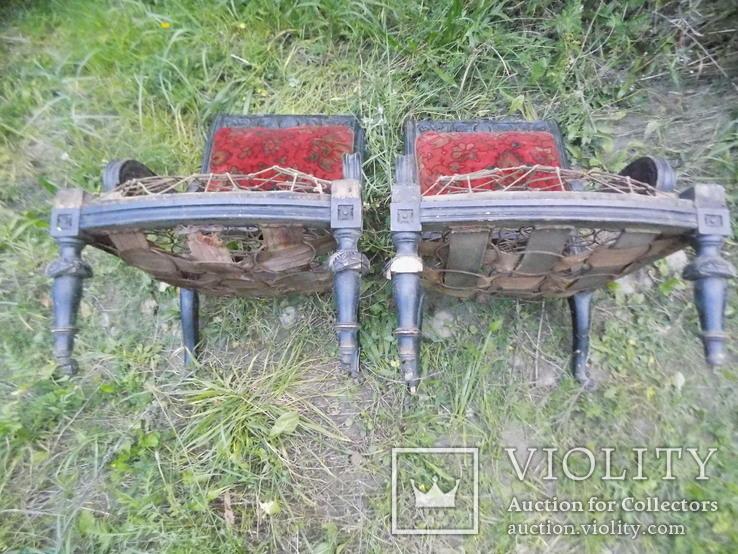 Два фотеля/м'які крісла 19ст. різьба, фото №10