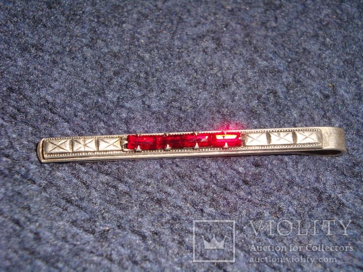 Зажим для галстука серебро 875 проба, 7 грамм, фото №3