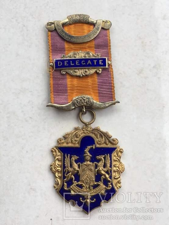 Знак делегата съезда Ордена Лесников .