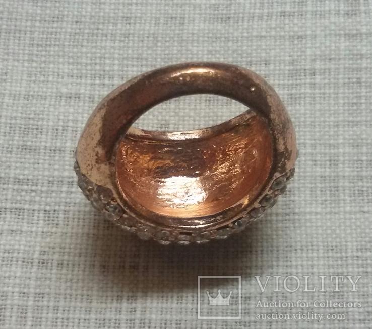 Кольцо с блестящими камешками, фото №3
