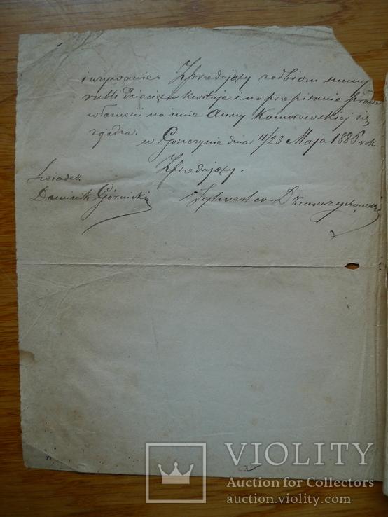 Контракт 1886 год + бонус, фото №3
