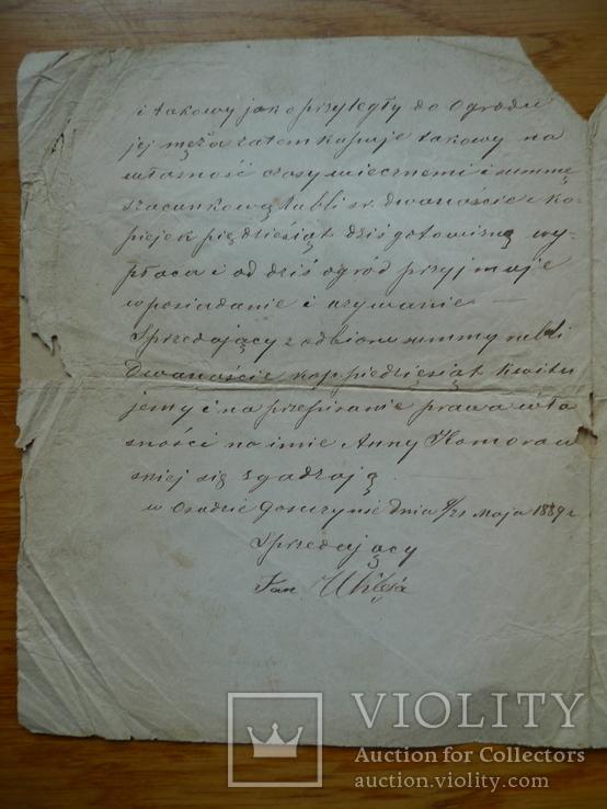 Контракт 1886 год + бонус, фото №5