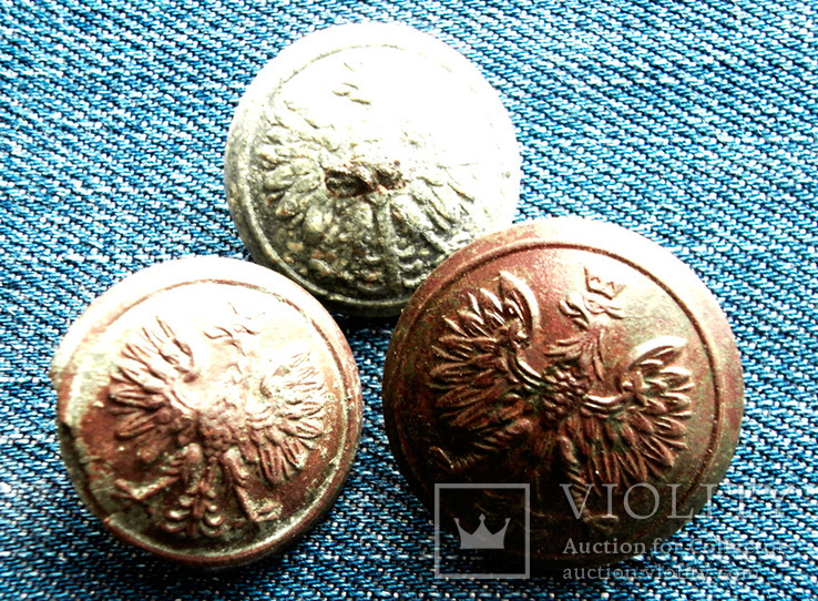 Три(3) пуговицы, РИ, ЦП, Лот 3875