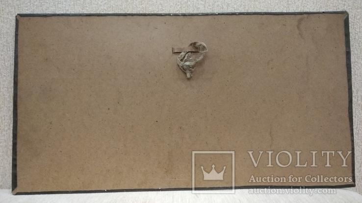 Чеканка Богатырь с возлюбленной 62.5*33.5 см., фото №6