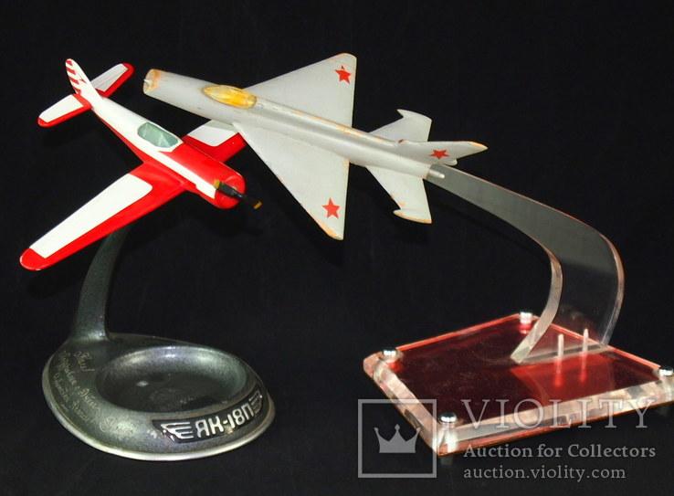 Сувенир, самолёт ЯК - 18П, МИГ - 21., фото №2