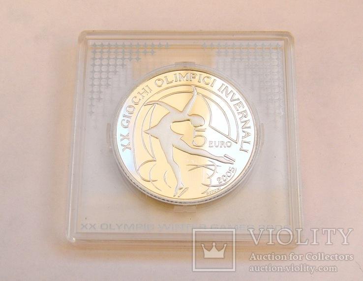 """5 Евро """"Фигурное катание"""", Италия, 2005 г. UNC, фото №3"""