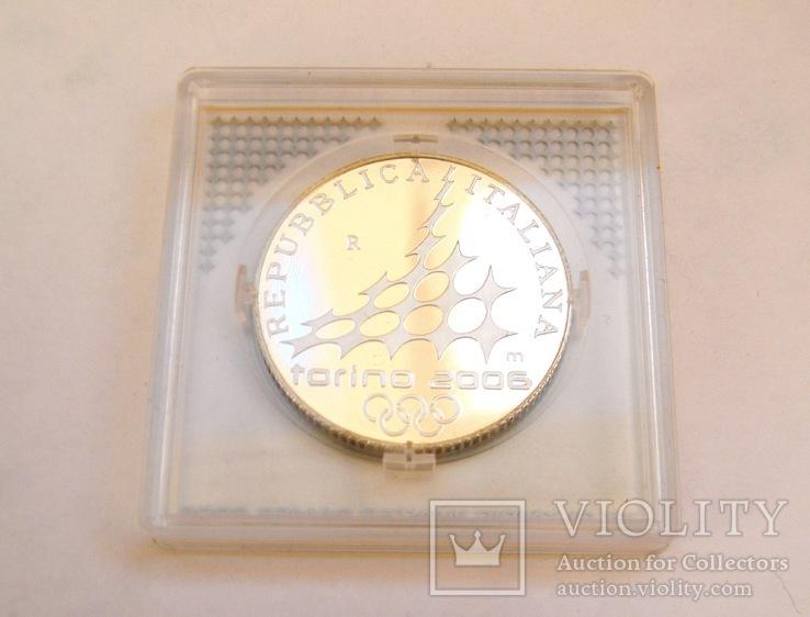 """5 Евро """"Фигурное катание"""", Италия, 2005 г. UNC, фото №6"""
