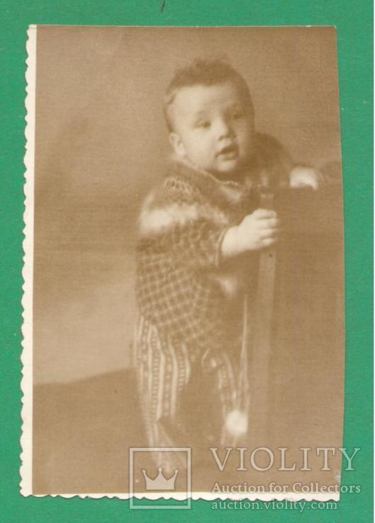 1954 Ребенок малыш на стуле, фото №2