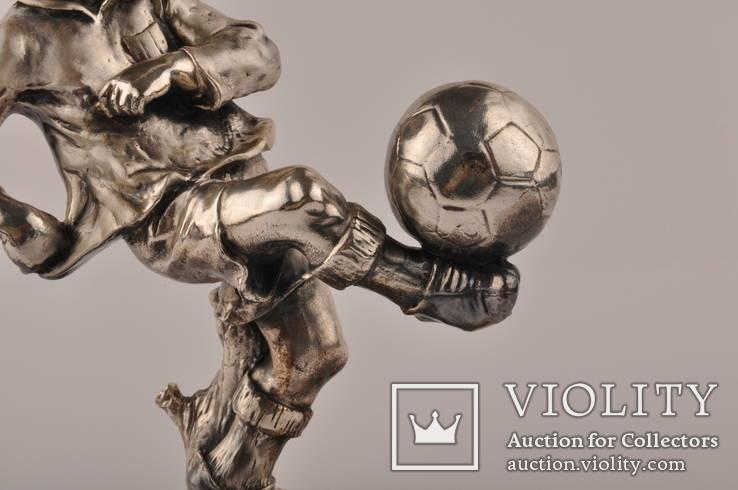 Статуэтка футболиста Италия 1982 года из  ламинированного серебра 925 пробы., фото №6