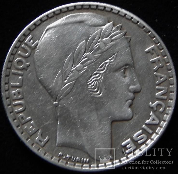 20 франків 1933 року, ІІІ Французька республіка, «Маріанна», срібло