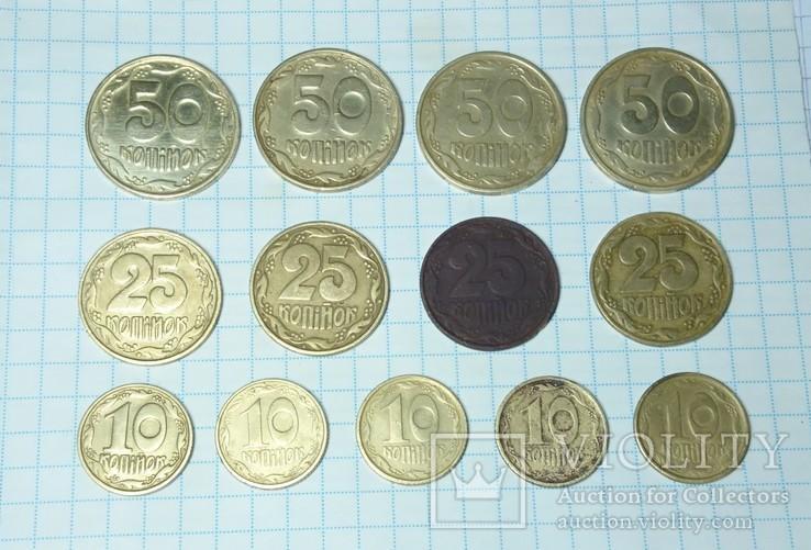Монеты Украины 1992 года, 13-шт.